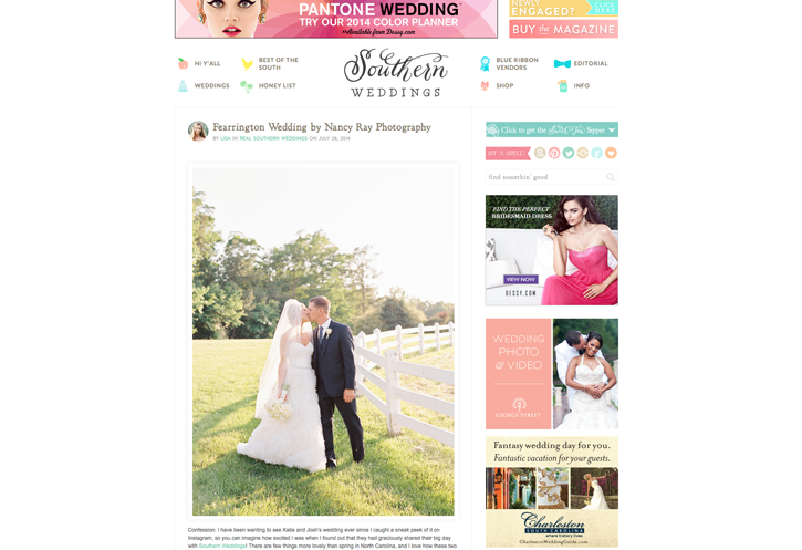 2014:07:28 Southern Weddings Blog : Katie and Josh : Callie Davis