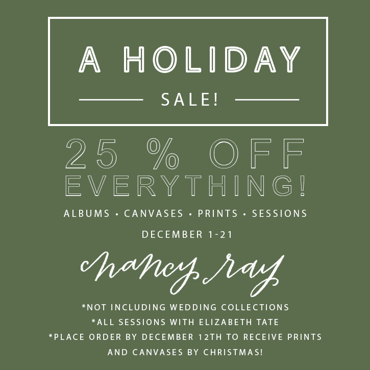Holiday Sale 25 Percent