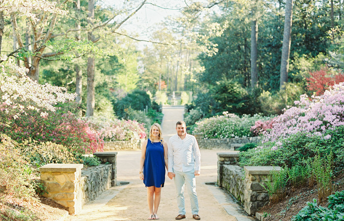 Katie and Ryan Duke Gardens Film Engagement Session