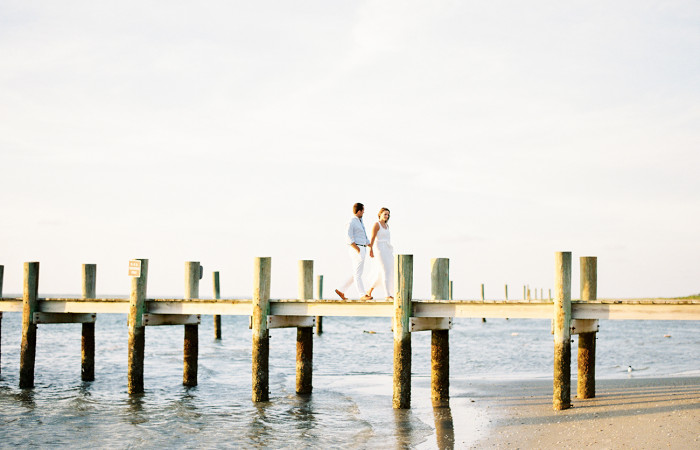 Laura and Eric Cape Lookout Film Engagement Session