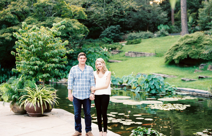 Taylor and Will Film Duke Gardens Engagement Session