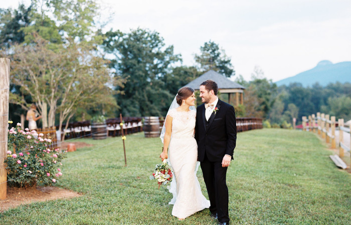 Cassie and Brooks Pilot Mountain, NC Film Wedding