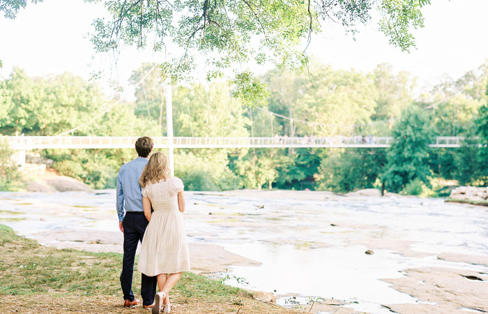Kate and Caleb Greenville, SC Film Engagement Session