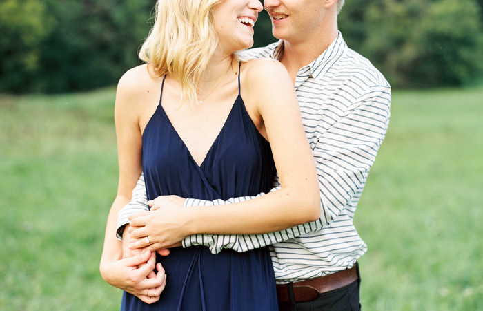 Kasey and Zach Chapel Hill, NC Film Engagement Session