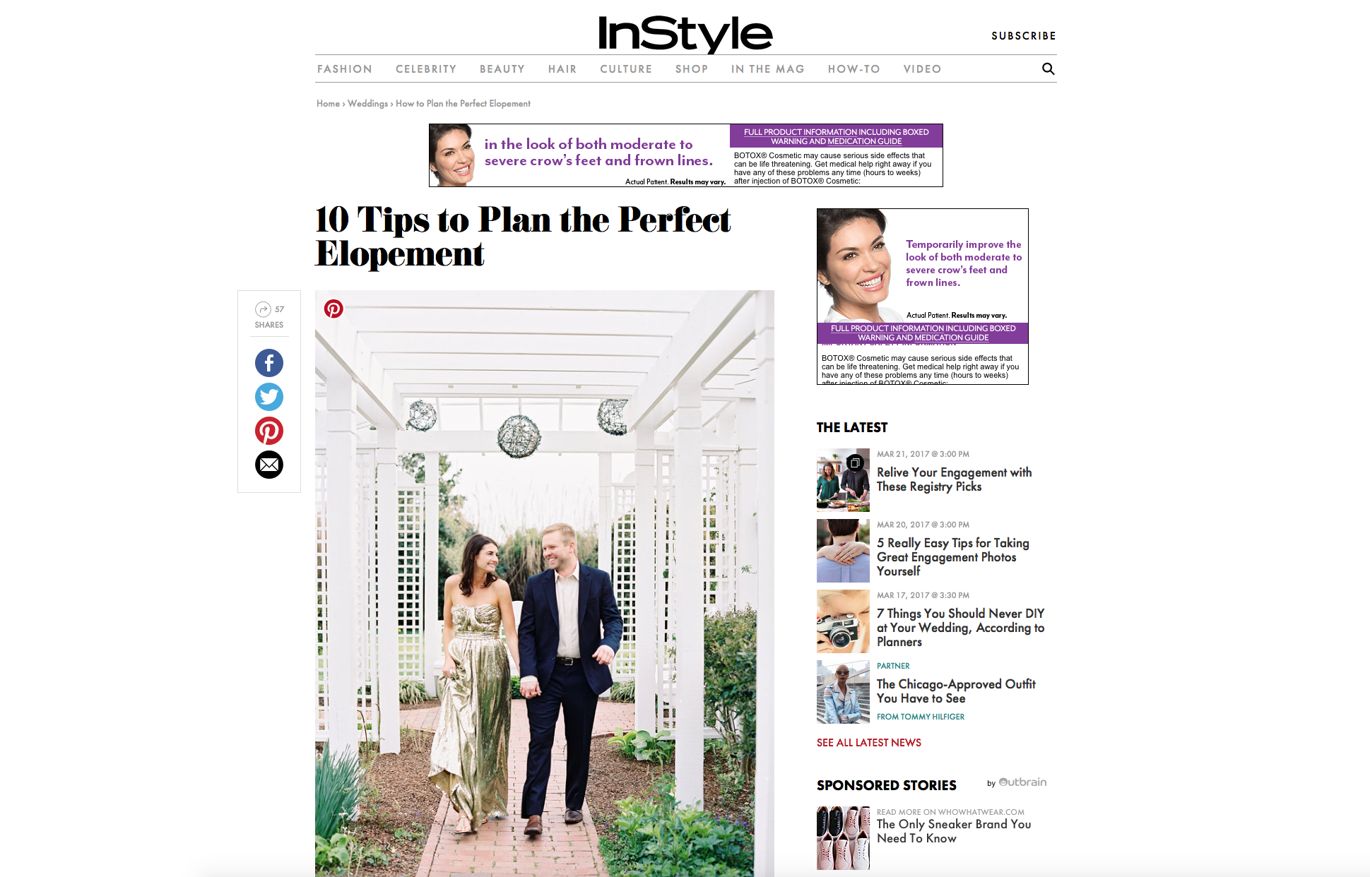 2017:03:17 - InStyle Magazine Blog : LT and Brandon Engagement : Callie Davis